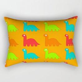 Cute Dino Pattern Walking Dinosaurs Rectangular Pillow