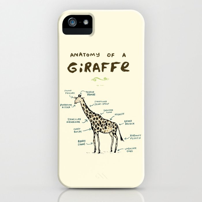 anatomy of a giraffe iphone case