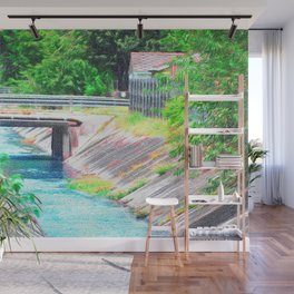 Water Canal (Impressionistic) Wall Mural