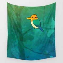 Yellow-billed kingfisher (Syma torotoro) Wall Tapestry