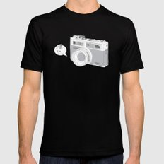 "Yashica Camera - ""Say Cheese"" - soft-brown MEDIUM Black Mens Fitted Tee"