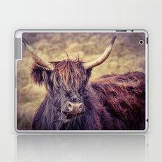 Long Horn Highland Cow Laptop & iPad Skin
