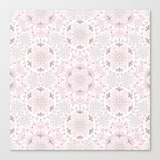 Mandala_Rose-Warm Gray Canvas Print