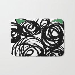 Black Roses Bath Mat
