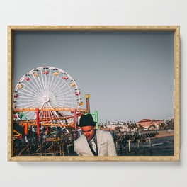 Santa Monica Pier wheel Serving Tray