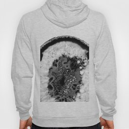 Gray Black White Agate Glitter Glamor #1 #gem #decor #art #society6 Hoody