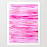 hot pink Art Prints featuring Hot pink by Retro Love Photography