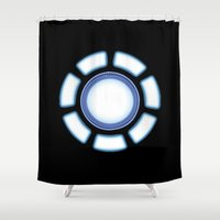 iron man Shower Curtains featuring IRON MAN by eARTh
