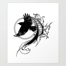 Crow Fly Straight Art Print