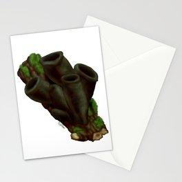 Black Urn Mushrooms Stationery Cards