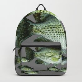 SCHOOL OF GREEN FISH  IN GREY Backpack