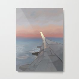 Sunset Travel Metal Print