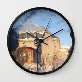 Hagia Sophia in Istanbul,Turkey Wall Clock