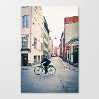 Copenhagen Bicycle (Alternate Size) Canvas Print