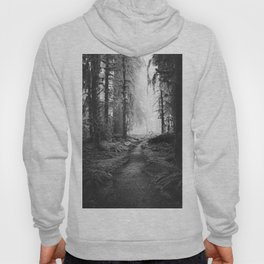 Magical Washington Rainforest Black and White Hoody