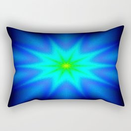 Star Bright Blue & green Rectangular Pillow