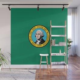 flag Washington,america,usa,Alki,Evergreen State, Washingtonian,Olympia,seattle,Spokane Wall Mural