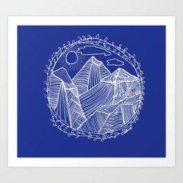 Mountains Dreams Again! Art Print