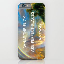 Rainy Season in Perfect Places iPhone Case