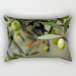 Olives On A Branch Rectangular Pillow
