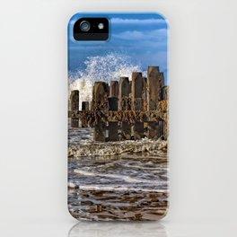 White horse on walcott beach iPhone Case