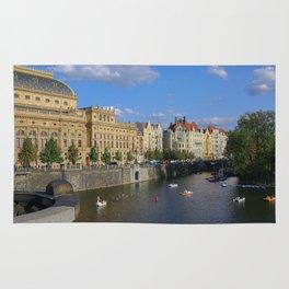 Sunny Day in Prague - View from Legion Bridge Rug