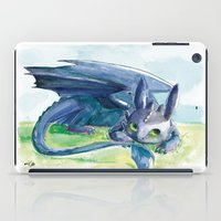 how to train your dragon iPad Cases featuring How to Train Your Dragon - Toothless by PinStripes Studios