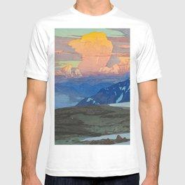 Yoshida Hiroshi Japan Alps  Vintage Beautiful Japanese Woodblock Print Hiroshi Yoshida T-shirt