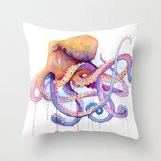 Octopus II Throw Pillow
