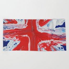 Abstract Union Jack Beach Towel