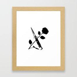 Switchblade Rose Framed Art Print
