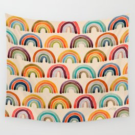 Rainbow Watercolor – Retro Palette Wall Tapestry