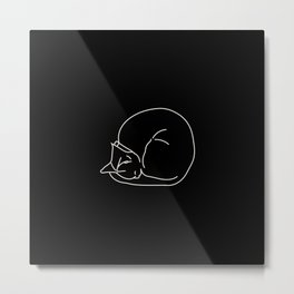 Sleeping Cats #3 - black Metal Print