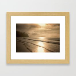 And so it Begins sunrise at Avila Beach California Framed Art Print