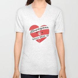 Happy Little Broken Heart Unisex V-Neck