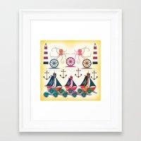 sailor Framed Art Prints featuring Sailor by famenxt