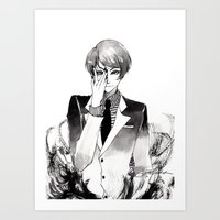 tokyo ghoul Art Prints featuring Tokyo Ghoul Ink by fruits