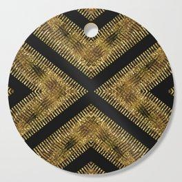 Black Gold | Tribal Geometric Cutting Board