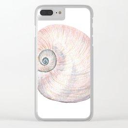 Watercolor Seashell Painting on White 3 Minimalist Coast - Sea - Beach - Shore Clear iPhone Case