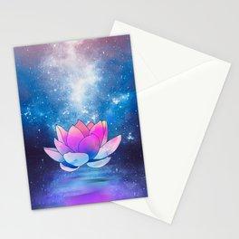 magic lotus flower Stationery Cards