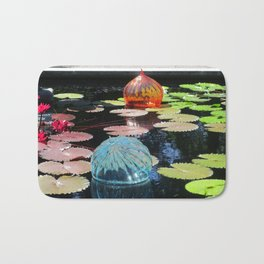 Lily Pond and Glass Floaters Bath Mat