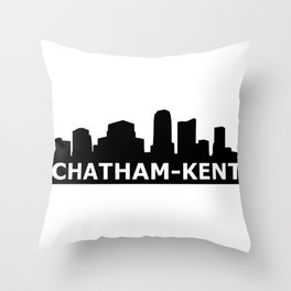 Chatham-Kent Skyline Throw Pillow