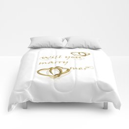 Will you marry me ??? Comforters