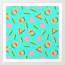 Memphis pattern 61 Art Print