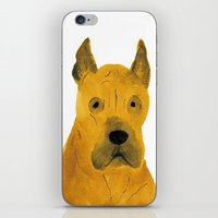 great dane iPhone & iPod Skins featuring Great Dane by ITSUKO SUZUKI