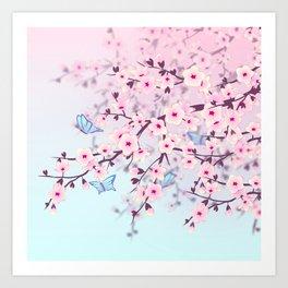 Cherry Blossoms Art Print