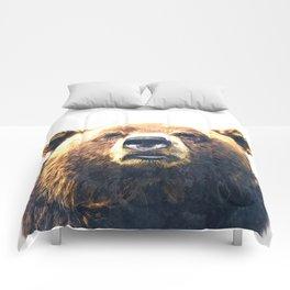 Bear portrait Comforters