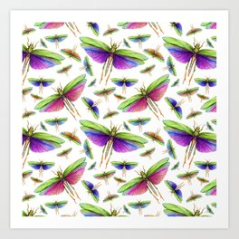 Colorful Insects Art Print
