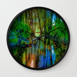 A Flooded Wood Wall Clock