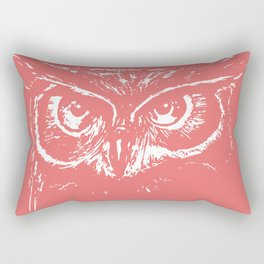 owl_coral Rectangular Pillow